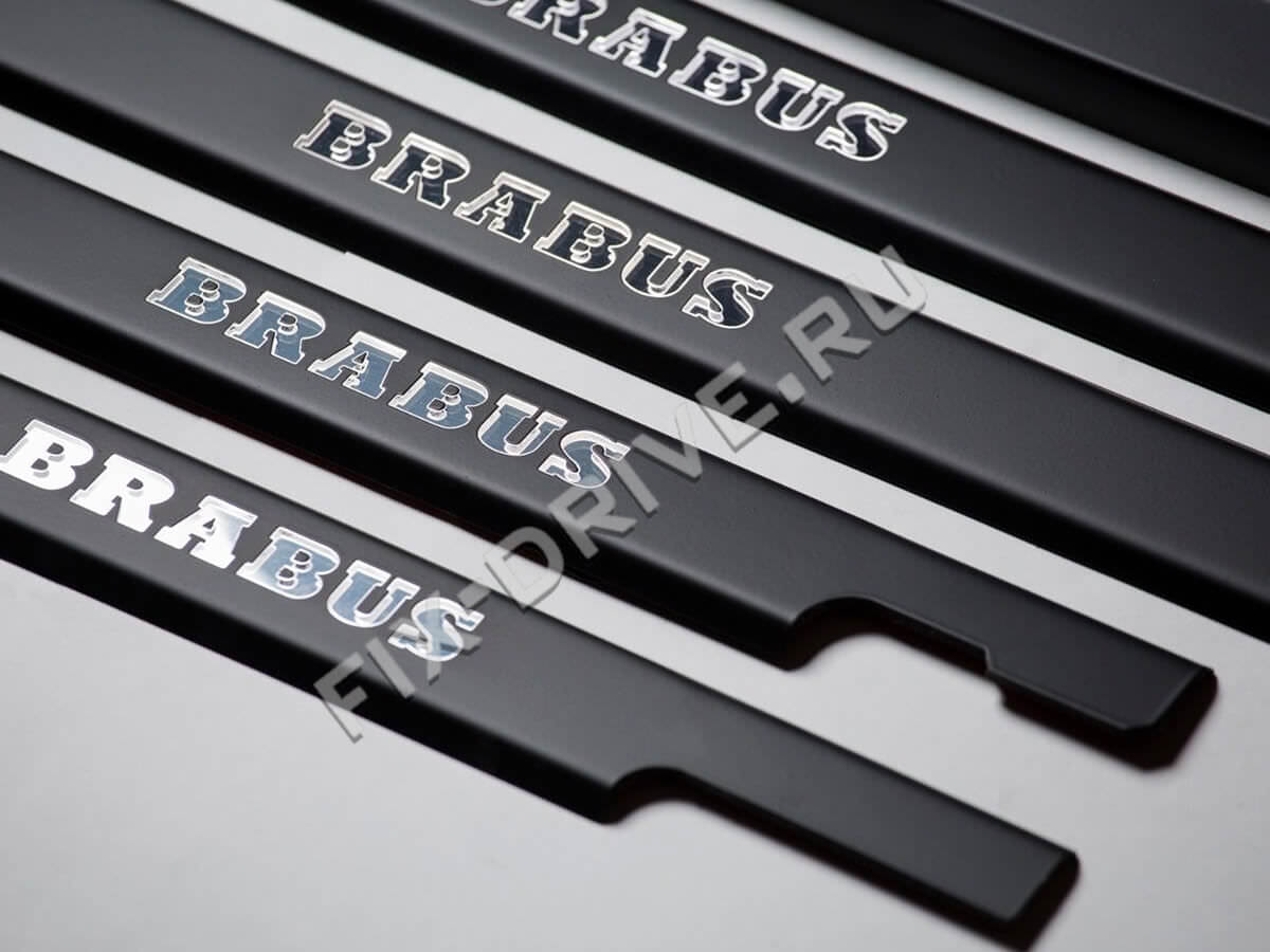 Door sills with illumination Mercedes G-Class w463 Brabus Black