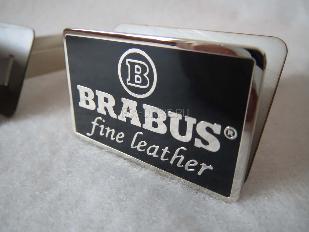 Fine leather BRABUS chrome W463 G-Class Mercedes-Benz badges for seats